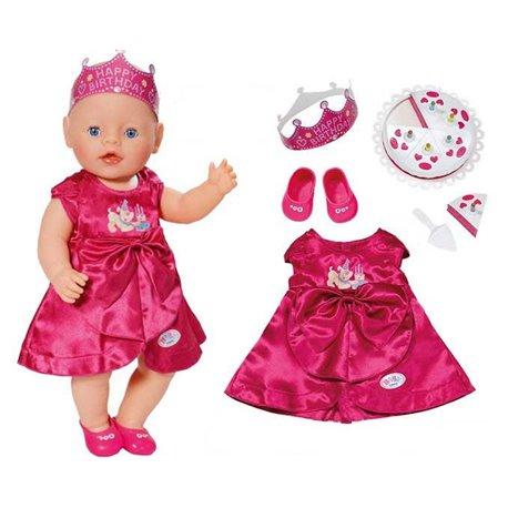 BABY BORN Ubranko Urodzinowe Sukienka + akcesoria dla lalki 43 cm