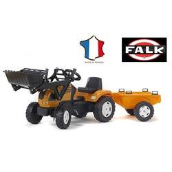 FALK Traktor na pedały RENAULT z ładowaczem i przyczepą