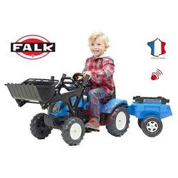 Falk Traktor LANDINI POWERMONDIAL 110 z łyżką i przyczepą