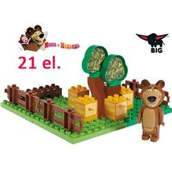 Big Klocki Masza i Niedźwiedź Ogród Miszy 21 elem.
