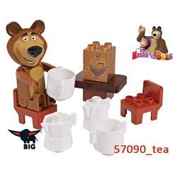 Big Klocki Masza i Niedźwiedź Zestaw Czas na Herbatkę z figurką Misza