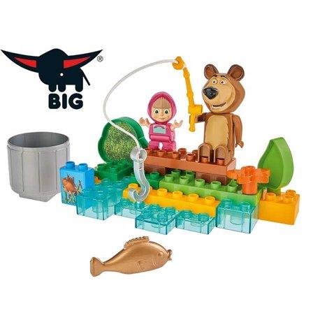 BIG Bloxx Masza i Niedźwiedź na Rybach 30 elementów