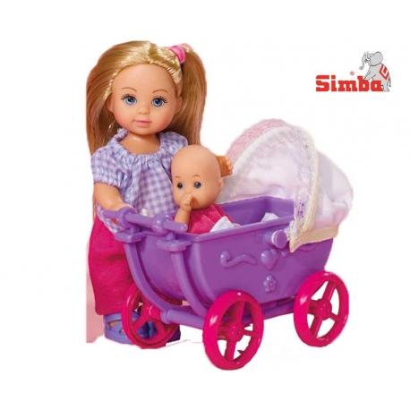 Simba Lalka Evi z wózkiem i laleczką