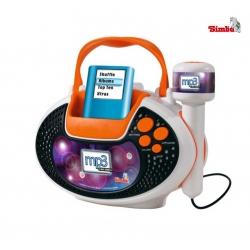 Simba Mikrofon 2w1 świecący statyw do 113 cm + możliwość podł MP3