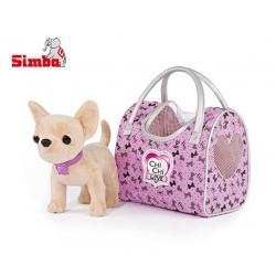 Simba Piesek Chi Chi Love w podróży z modną torebką