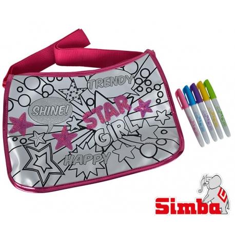 Simba Color Me Mine Cekinowa Torba Maxi Hipster + 5 flamastrów permamentnych HIT Reklama TV