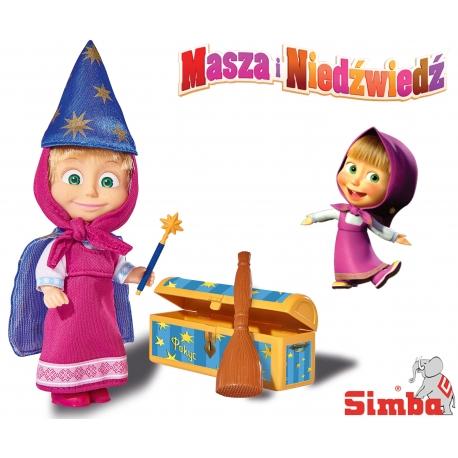 Simba Lalka Masza i Niedźwiedź Czarodziejka Magiczne Sztuczki