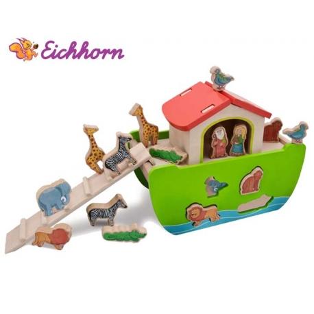 Eichhorn Drewniana Arka ze Zwierzątkami