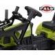 FALK Traktor CLAAS ARION zielony z przyczepą na pedały