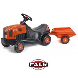 FALK Jeździk traktorek odpychacz Kubota z przyczepką
