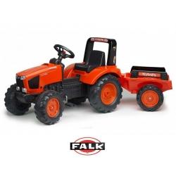 FALK Traktor KUBOTA na pedały + Przyczepka