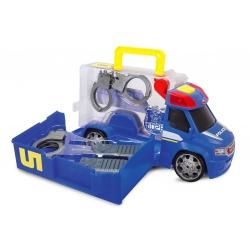 Dickie Policyjny Van z zestawem akcesoriów w walizce