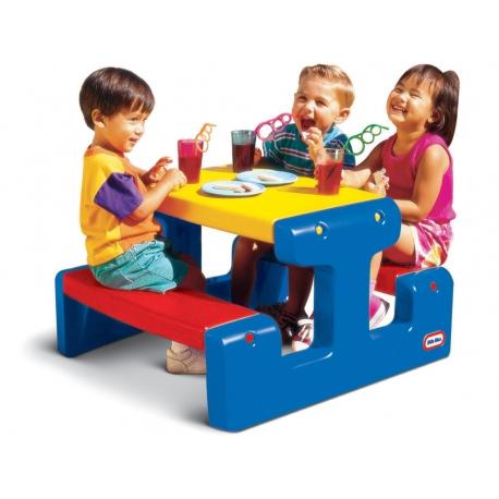 Little tikes Ogromny stół piknikowy Stolik niebieski
