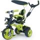 Injusa Rowerek Trójkołowy City Trike regulowany Ciche Koła 3 w 1 Zielony