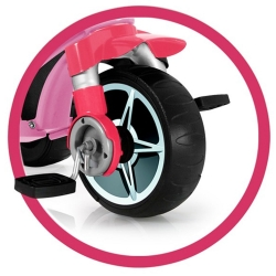 Injusa Rowek Trójkołowy funkcja sterowania Pasy bezpieczeństwa 2 w1 Body Sport Girl