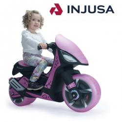 Injusa Motor Skuter Dragon Różowy jeździk pchacz IML
