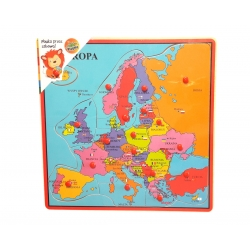 Playme Drewniana układanka Mapa Świata