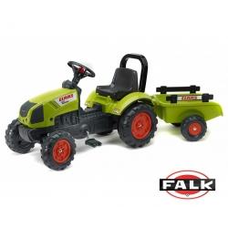 FALK Traktor Claas na pedały Arion 410 z przyczepą