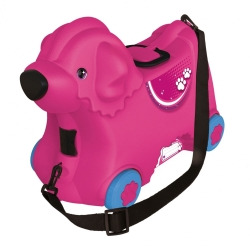 BIG Jeżdżąca walizka Jeździk Bobby Trolley Różowa