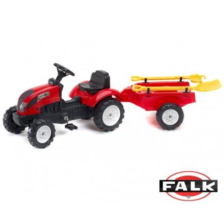 FALK Traktor na pedały Garden Master z przyczepą + grabki i łopata