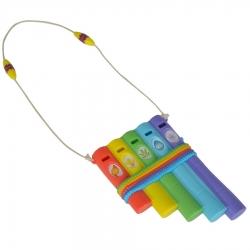 Magiczny indiański flet z kolorowymi piszczałkami Wissper