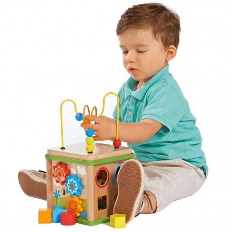Kostka Edukacyjna Drewniana dla dzieci Eichhorn