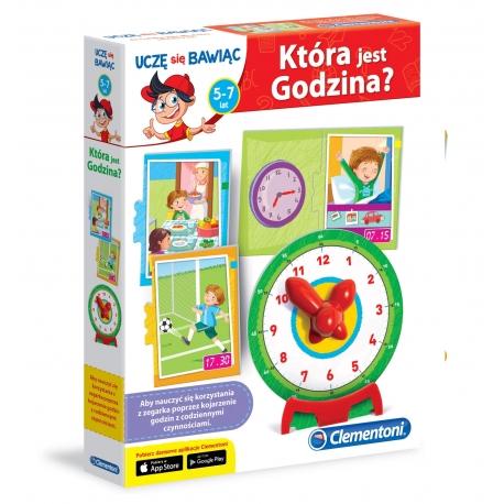 Która jest godzina? Edukacyjna gra dla dzieci Clementoni