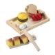 Drewniany zestaw śniadaniowy do krojenia Happy People