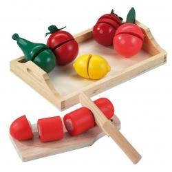 Drewniany zestaw warzyw i owoców do krojenia Happy People