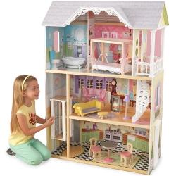 Drewniany domek dla lalek Bella Kaylee z akcesoriami KidKraft