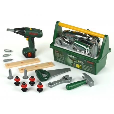 Klein Skrzynka z wkrętarką i narzędziami Bosch