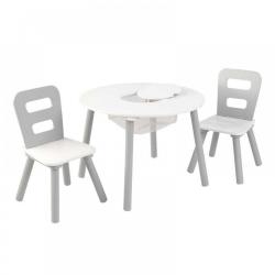 Biało różowy Drewniany stolik i 2 krzesełka KidKraft