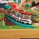 KidKraft kolejka Drewniana pociąg Aerocity stół