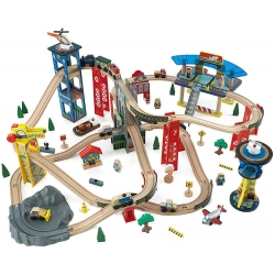 KidKraft wielka kolejka drewniana Highway Train Set tor Pociąg