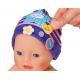 Czapeczka z przypinkami dla lalki Baby Born 43 w kolorze fioletowym