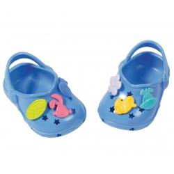 Buciki z przypinkami dla lalki Baby Born 43 cm w kolorze różowym