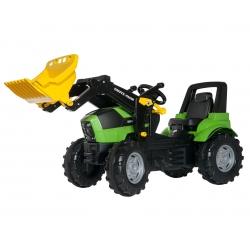 Traktor na pedały z łyżką RollyToys rollyFarmtrac Premium Deutz-Fahr Agrotron 7250 TTV