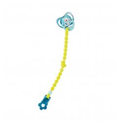 Smoczek z przypinką dla lalki 43 cm w kolorze niebieskim
