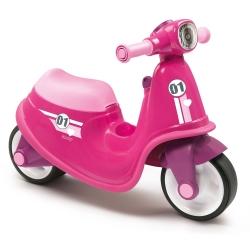 Różowy jeździk skuter Smoby Ciche koła Pink Scooter
