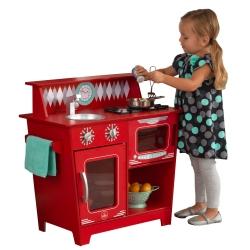 KidKraft Drewniana Kuchnia Klasyczna w kolorze czerwonym