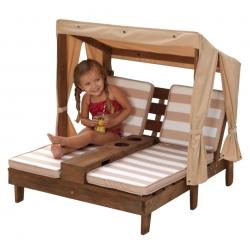KidKraft Ogrodowy Podwójny leżak z baldachimem