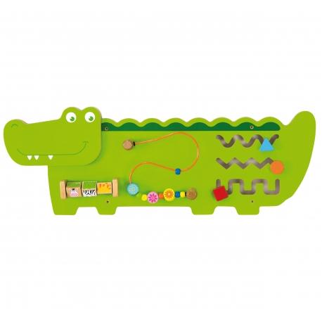 Sensoryczna tablica Manipulacyjna Viga Toys Krokodyl