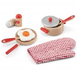 Viga Toys Zestaw Śniadaniowy Czerwony