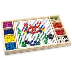 Drewniana układanka 2w1 Wciskane koraliki Viga Toys
