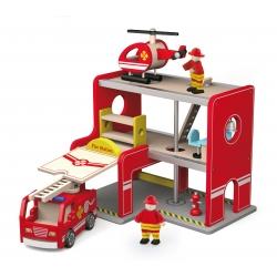 Drewniana Remiza strażacka z akcesoriami Viga Toys