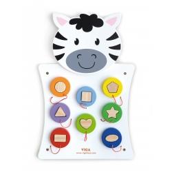 Drewniana Gra Dopasuj kształty Zebra Viga Toys