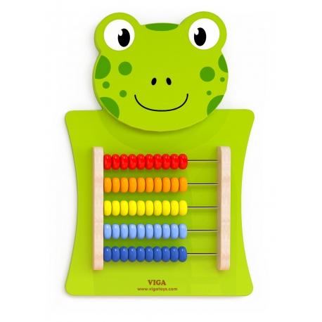 Drewniane Liczydło edukacyjne Żabka Viga Toys