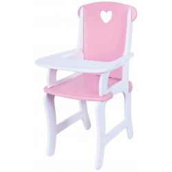 Drewniane krzesełko do karmienia lalek Viga.