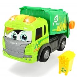 DICKIE Happy Śmieciarka Scania z kontenerem 27 cm