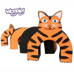 Woopie Mega Klocki Piankowe Tunel Tygrys Przedszkolny zestaw rehabilitacyjny 4 el.